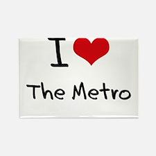 I Love The Metro Rectangle Magnet