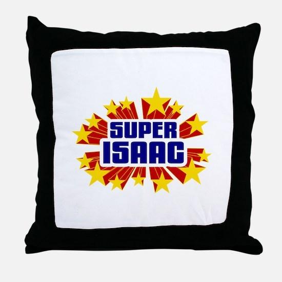 Isaac the Super Hero Throw Pillow