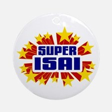 Isai the Super Hero Ornament (Round)