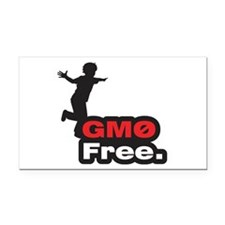 GMO Free - Rectangle Car Magnet