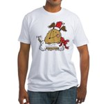 Funny Christmas Dog Fitted T-Shirt