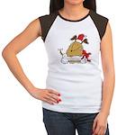 Funny Christmas Dog Women's Cap Sleeve T-Shirt