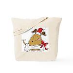 Funny Christmas Dog Tote Bag