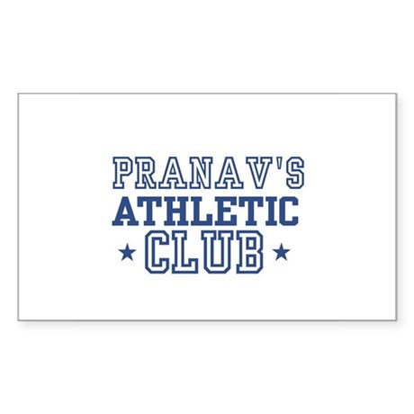 Pranav Rectangle Sticker