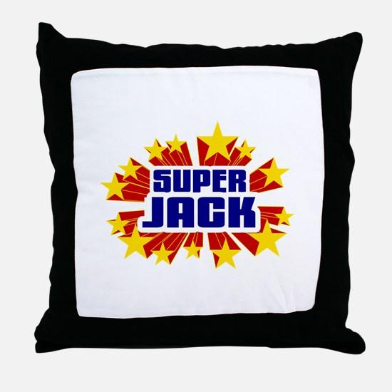 Jack the Super Hero Throw Pillow
