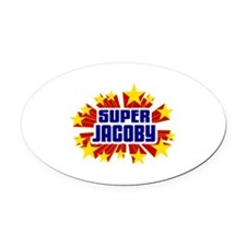 Jacoby the Super Hero Oval Car Magnet