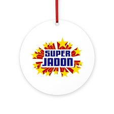 Jadon the Super Hero Ornament (Round)