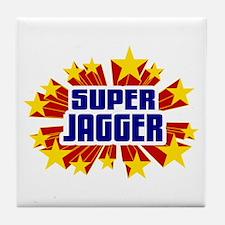 Jagger the Super Hero Tile Coaster