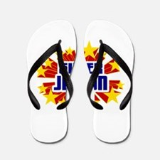 Jaidyn the Super Hero Flip Flops