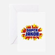 Jakob the Super Hero Greeting Card