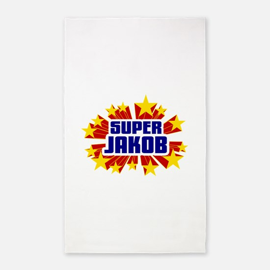 Jakob the Super Hero 3'x5' Area Rug