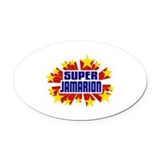Jamarion the Super Hero Oval Car Magnet