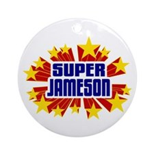 Jameson the Super Hero Ornament (Round)
