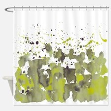 Chartreuse burst Shower Curtain