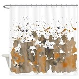 Abstract paint shower curtain Shower Curtains