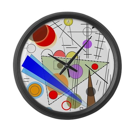 Funky Abstract 1 Large Wall Clock By Gailgabel