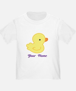 Personalized Yellow Duck T