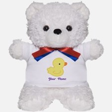 Personalized Yellow Duck Teddy Bear