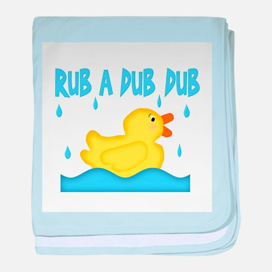 Yellow Rubber Ducky baby blanket