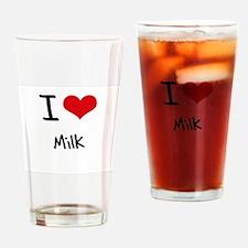 I Love Milk Drinking Glass