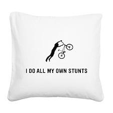 BMX Square Canvas Pillow