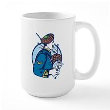 Bagpiper Bagpipes Scotsman Retro Mug