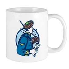 Bagpiper Bagpipes Scotsman Retro Mug