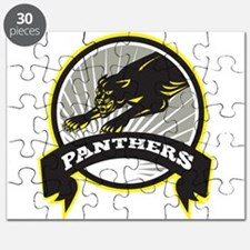 Panther Big Cat Growling Puzzle