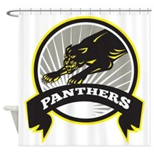 Panther Big Cat Growling Shower Curtain
