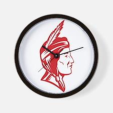 Native American Indian Squaw Woman Wall Clock