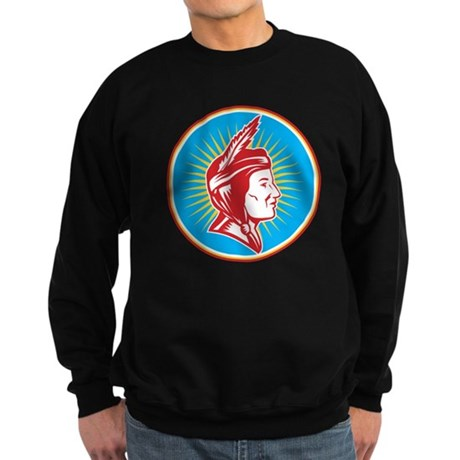 Native American Indian Squaw Woman Sweatshirt