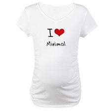 I Love Minimal Shirt