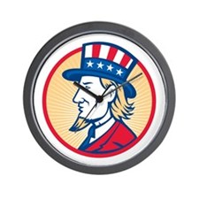 Uncle Sam American Side Wall Clock