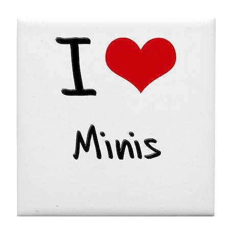 I Love Minis Tile Coaster