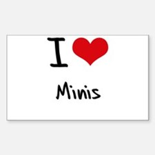 I Love Minis Decal