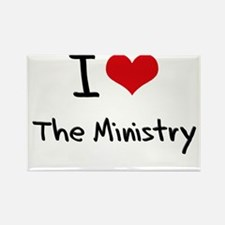 I Love The Ministry Rectangle Magnet