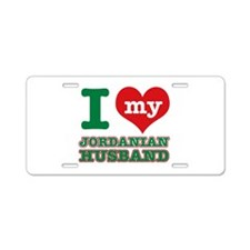 I love my Jordan husband Aluminum License Plate