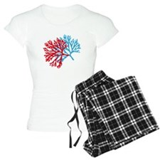 blue and red sea fan coral Pajamas