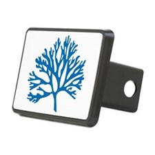 blue sea fan coral drawing Hitch Cover
