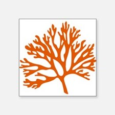 red sea fan coral drawing Sticker