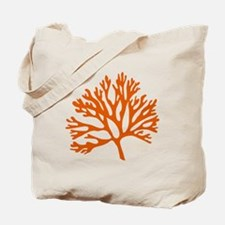 red sea fan coral drawing Tote Bag
