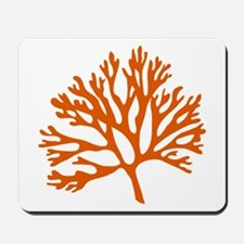 red sea fan coral drawing Mousepad