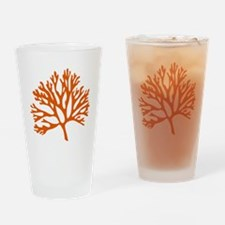 red sea fan coral drawing Drinking Glass