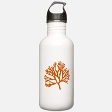 red sea fan coral drawing Water Bottle