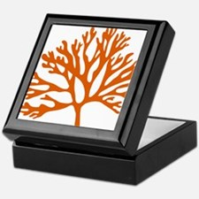 red sea fan coral drawing Keepsake Box