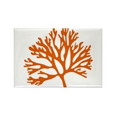 red sea fan coral drawing Rectangle Magnet