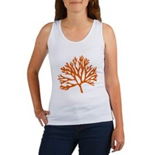 red sea fan coral drawing Tank Top