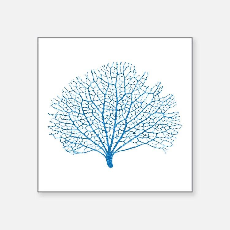 blue sea fan coral Sticker