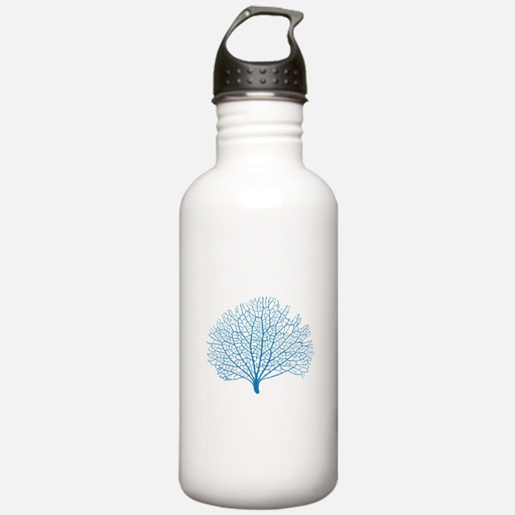 blue sea fan coral Water Bottle
