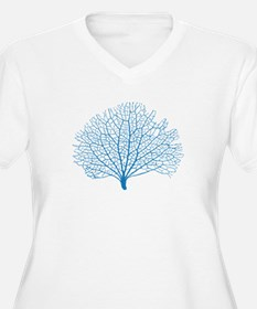 blue sea fan coral Plus Size T-Shirt